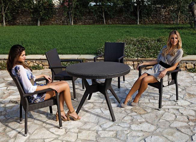 eredi bosca pesaro - arredo ville, giardini e terrazze - tavoli e ... - Metallo Patio Tavolo E Sedie Rotondo